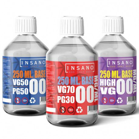 InSano - Base 250 ml. 0mg nikotin
